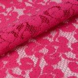 Tessuto di nylon floreale del merletto del tricot del tessuto del merletto con i Sequins