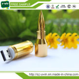 Forma de bala Metal Memory Stick USB 2.0 Flash Drive 8gb Color Oro