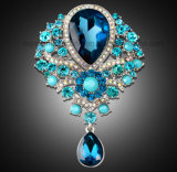 De Broche van het Glas van Europa van de Tegenhanger van de Broche van het Bergkristal van de Vrouwen van de luxe (peer tb-026 pendante)
