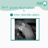 Una muestra gratis de Transferencia Térmica de códigos de barras etiquetas de papel de acero
