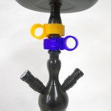 El vidrio de cristal de cristal del tubo que fuma del tubo de agua del tubo de agua de la cachimba del silicón del tazón de fuente de Tabacco que fuma Nargile del tazón de fuente determinado material de Shisha Sisha Nargile Bong la cachimba Shisha