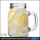 450/600/700ml cancelam o frasco de vidro com o punho para o alimento e a bebida