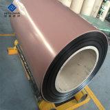 PE/PVDF/aluminium en aluminium à revêtement de bois pour le fabricant de la bobine