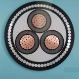 8.7/15kv câble d'alimentation ignifuge moyen de la tension XLPE avec le faisceau de cuivre multi à un noyau