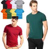 1ドルの広告のための明白なSoildカラー人の綿のTシャツ