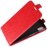 X赤いiPhoneのためのレトロPUの携帯電話フリップケース