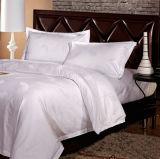 Vente en gros Luxury White Cotton Hotel Jacquard Literie (DPF201503)