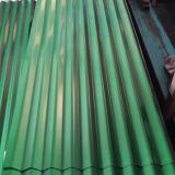Folha do soldado corrugada galvanizada telhando a folha na bobina de aço