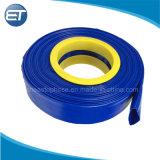L'agriculture de l'irrigation Layflat en PVC flexible de décharge de l'eau en bleu