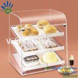 Contre- premier cas d'exposition acrylique de boulangerie de coutume