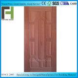 Pelle del portello modellata impiallacciatura di legno scura del fronte HDF della noce di EV