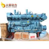 Gran potencia 600CV diesel marinos motor Weichai 170 Barco motor 1000 rpm.
