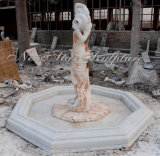 Фонтан цвета домашней скульптуры украшения Multi с статуей