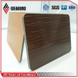 Novo Produto em relevo a série de toque do painel de revestimento de alumínio com acabamento em madeira