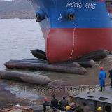 Barcos que levantam a bolsa a ar de borracha do salvamento para a construção subaquática