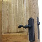 Bois solide de type de l'Amérique une porte articulée en bois intérieure de ceinture, une porte d'entrée de ceinture faite en chêne avec les barres horizontales