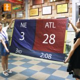 カスタム屋内装飾ファブリックスクロールハングの旗
