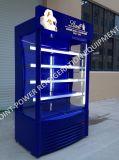Na posição vertical/bebidas Vertical/cerveja/bebida fria do refrigerador de demonstração