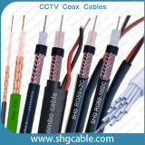 RG6 Rg59 Rg11 Rg58 Rg213 LMR400 ULセリウムによって確認されるTV CCTV RFの同軸ケーブル
