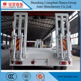 3ejes Low Boy/camión de plataforma baja semi remolque con extensiones laterales de la ingeniería/de la excavadora Vehículo/transporte de maquinaria de construcción