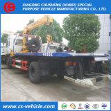 Camion de lit plat de remorquage de grue de secours routier de Dongfeng de 6 roues