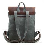 Рюкзак Backpack холстины сбор винограда с кожаный уравновешиванием для перемещения & напольное