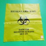 Sacchetti a gettare dello spreco dell'ospedale di Biohazards, colore giallo, colore rosso, blu