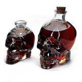 Hauptdekoration-Schädel-Form-Glasflasche für weißen Wein