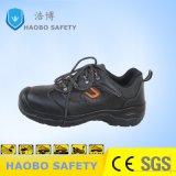 Pattini di cuoio genuini di protezione del lavoro di sicurezza con la punta d'acciaio