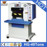 Machine gravante en relief de logo en cuir de Hg-E40t