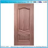 灰の木のベニヤが付いている二重凸ラインHDFのドアの皮