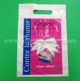 Kundenspezifischer Plastik-PET Träger-Beutel mit verstärktem gestempelschnittenem Griff