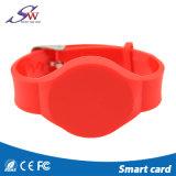 アクセス制御のための使い捨て可能なカスタムロゴLf Em4100 RFIDのリスト・ストラップ