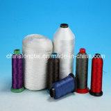 Material de nylon de poliéster Material de hilo de coser de color blanco y negro