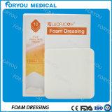 Espuma de poliuretano hidrofílica de las muestras libres de Foryou de la herida del cuidado de la PU de la espuma de la frontera diabética médica del vendaje para heridas