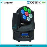Indicatore luminoso capo mobile girante infinito della lavata di 7X15W RGBW Osram LED
