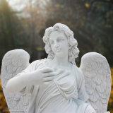 Doppia bella statua bianca di Scullpture di angelo