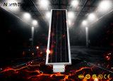 Sensor de movimiento inteligente de la luz de la calle todo-en-uno de la luz exterior Solar