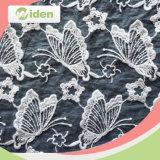Tecido geométrico de rendas bordado para vestuário feminino