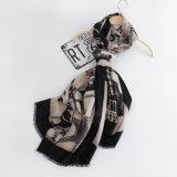 Frauen arbeiten gedruckten dickflüssigen Silk Schal um (YKY1127)