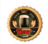 Venda por grosso de sinais de estanho em relevo personalizados da tampa do vaso de cerveja para a decoração da casa