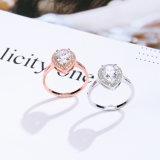 De Zilveren Ring van het Huwelijk van CZ van de Overeenkomst van het Hart van de Kwaliteit van Europa