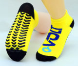 Непосредственно на заводе обеспечивают против скольжения носки адаптированные для использования внутри помещений Спортивные носки для надувной рай йога балет Dance или для использования внутри помещений батут прыжки
