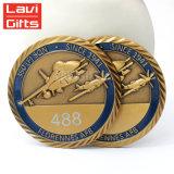 Custom Métal 3D'émail doux commémorative or antique Prix militaire de souvenirs de l'Armée Défi de souvenirs de gravure Pièce pour cadeau de promotion