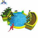 Большой бассейн динозавров и сдвиньте надувной Водный парк