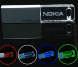 Cristal de promoción de la memoria USB Flash Drive de mazorca de acrílico duro