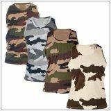 Salle de Gym de camouflage de coton personnalisés Tanktop singulet