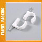 Crochet d'ongles en plastique rond en plastique Wall Clip de câble