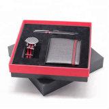 Monedero de cuero auténtico Ver Bolígrafo Set de Regalo para hombres