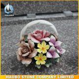 Commercio all'ingrosso di ceramica del cestino del fiore della pietra tombale